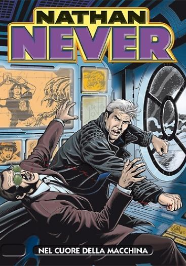 Cover image of Nathan Never # 252, black&white