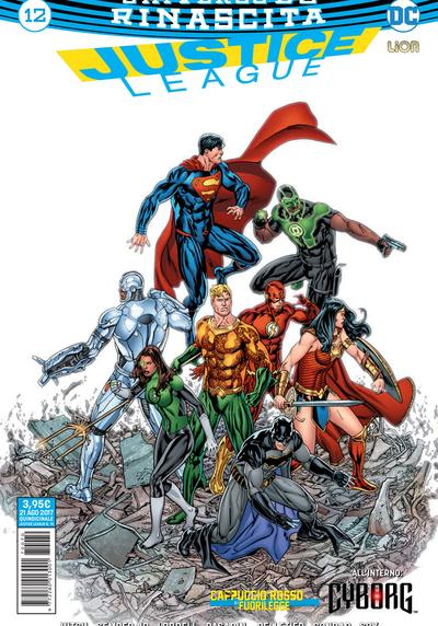 Cover image of Justice League Rinascita #12, color