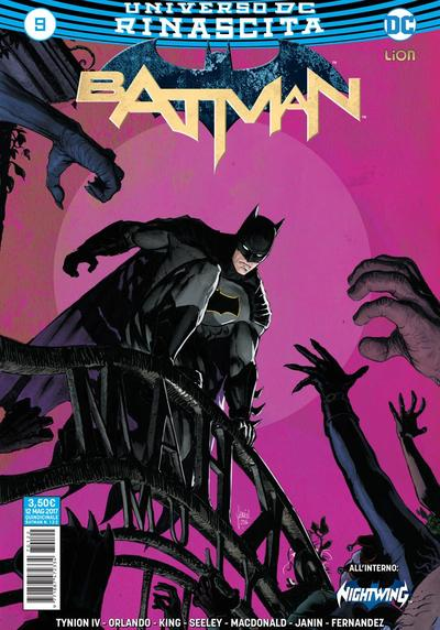 Cover image of Batman Rinascita #9, color