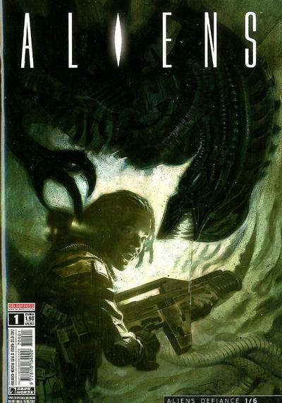 Cover image of Aliens #1, color