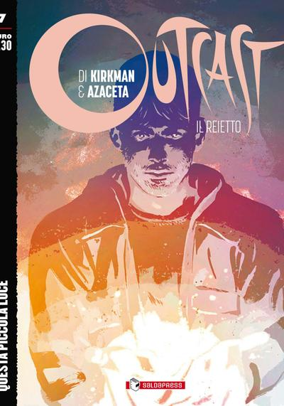 Cover image of Outcast #7 (ITA), black&white