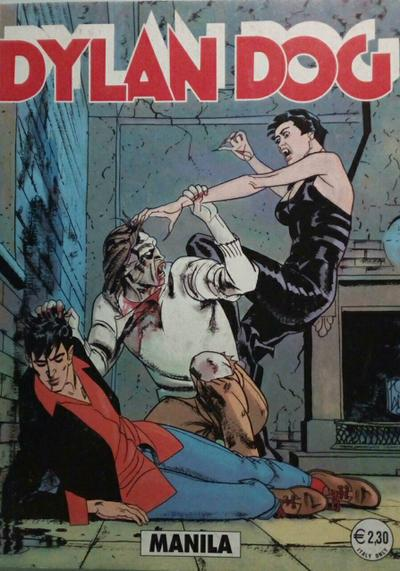 Cover image of Dylan Dog #214, black&white