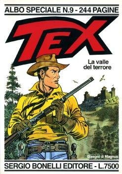 Cover image of La valle del terrore - Speciale Tex #9, black&white