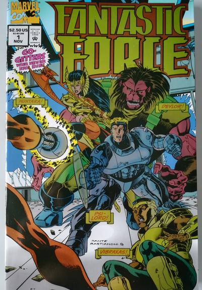 Cover image of Fantastic Force n.1 ( Marvel 1994 ) Foil Cover - Cover e disegni: D. Bastianoni, color