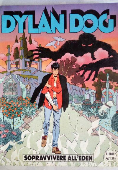 Cover image of Dylan Dog #166, black&white