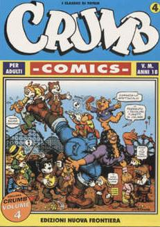 Cover image of Crumb Comics #4 (ITA), black&white