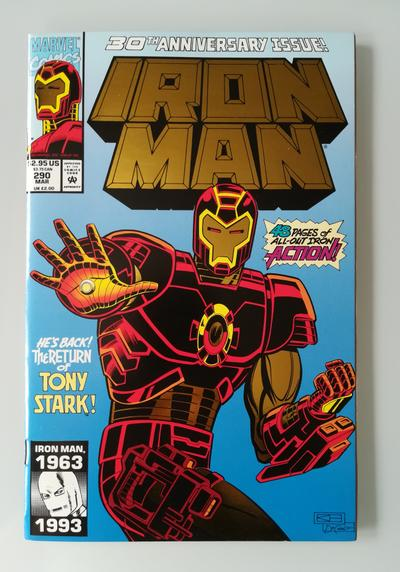 Cover image of Iron Man n.290 ( Marvel 1993 ) 1st app. of Iron Man's NTU-150 Armor - Gold Cover, color
