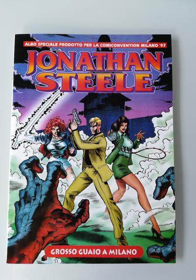 Cover image of Jonathan Steele  ( Bonelli Editore 1997 )  Albo Mini Speciale Comiconvention Milano 1997, black&white