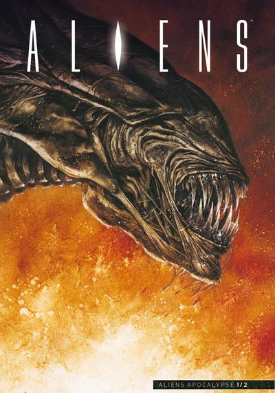 Cover image of Aliens #8, color