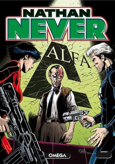 Cover image of Nathan Never # 253, black&white