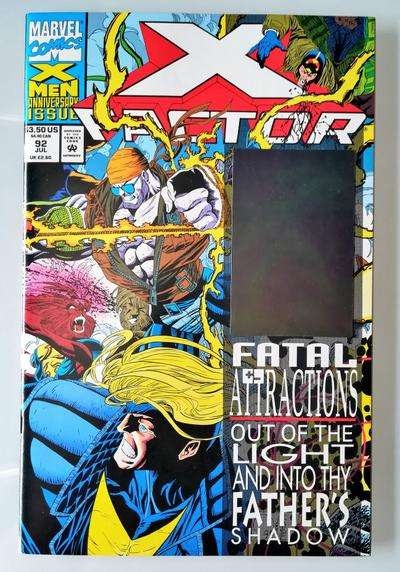 Cover image of X-Factor n.92 ( Marvel 1993 ) 1st app. of Exodus (Bennet Du Paris) Holo Havok, color