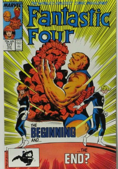 Cover image of Fantastic Four #317, color