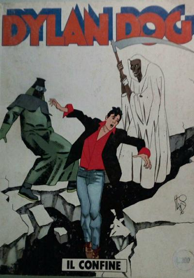Cover image of Dylan Dog #122, black&white