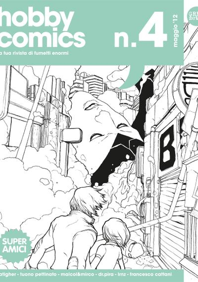 Cover image of Hobby comics #4, black&white