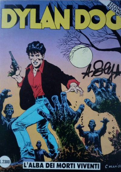 Cover image of Dylan Dog #1, black&white