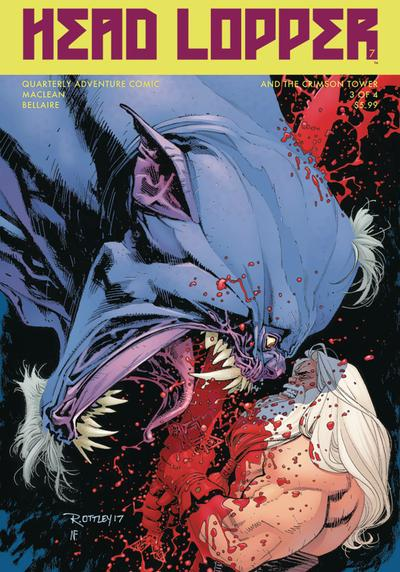 Cover image of Head Lopper #7 [Variant cover di Ryan Ottley with Nathan Fairbainr], color
